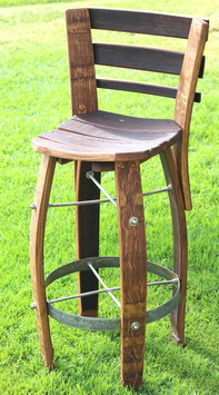 The Harmony Bar Stool is crafted from recycled wine barrels and features barrel stave legs and back rest a barrel hoop is use has a footrest. : wine barrel stools - islam-shia.org